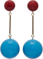 J.W.Anderson Blue and Burgundy Sphere Earrings