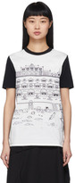 Lanvin White and Black Babar Edition Illustrated Hut T-Shirt