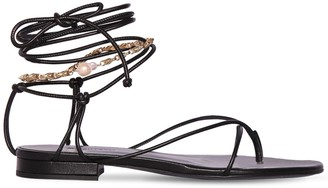 Magda Butrym 10mm Sweden Leather Lace-up Thong Sandal