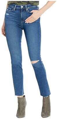 Paige Hoxton Slim Jeans w/ Raw Hem in Slopes Destructed (Slopes Destructed) Women's Jeans