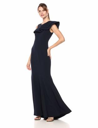 Eliza J Women's Asymmetric Ruffle Gown