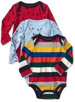 Gap Bright stripe long sleeve bodysuit (3-pack)