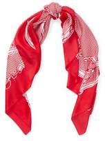 Ralph Lauren Equestrian Silk Scarf Red One Size