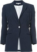Veronica Beard Taylor lace-up blazer - women - Polyester/Viscose - 0