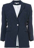 Veronica Beard Taylor lace-up blazer - women - Polyester/Viscose - 4