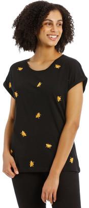 Only Minna Short Sleeve Bee Print Top