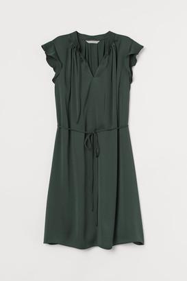 H&M Tie Belt Dress - Green