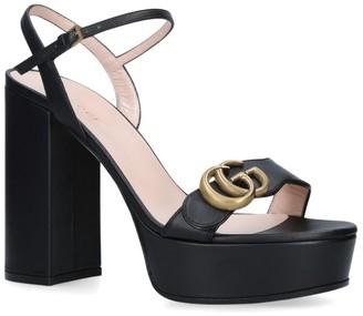 Gucci Leather Marmont Platform Sandals 85