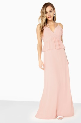 Girls On Film Frill Front Detail Chiffon Strappy Maxi
