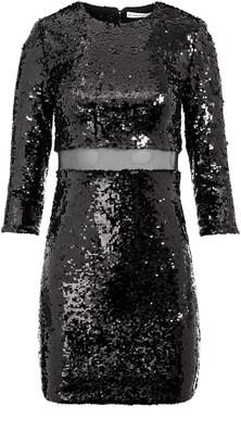 Alice + Olivia Rosalia Sequin Cut Out Mini Dress
