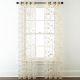 Royal Velvet Plaza Embroidered Sheer Grommet-Top Curtain Panel