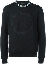 Versace embroidered Medusa sweatshirt - men - Cotton - S