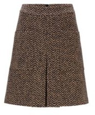 HUGO BOSS High-waisted skirt in a virgin-wool blend