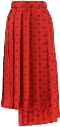 Fendi FF Karligraphy Printed Pleated Skirt