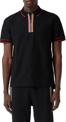 Burberry Men's Waltham Tipped Icon-Stripe Polo Shirt