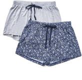 Rene Rofe Women's Sleep Bottoms ASSTFASH - Gray & Navy Paisley Happy Couple Pajama Shorts Set - Women
