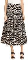 Lauren Ralph Lauren Tiered Geo Print Midi Skirt