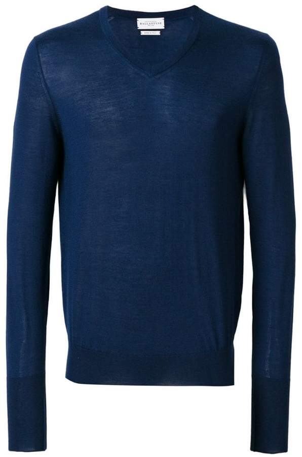 Ballantyne V-neck fitted sweater