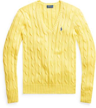 Ralph Lauren Cable-Knit V-Neck Jumper