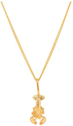 Katie Mullally Lobster Yellow Gold Plated Necklace