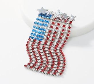 Kirks Folly Vertical Dancing American Flag Pin