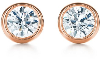 Tiffany & Co. Elsa Peretti Diamonds by the Yard Earrings in Rose Gold