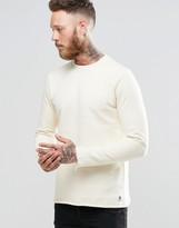 Paul Smith PS by Sweatshirt With Rolled Hem In Ecru