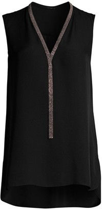 Elie Tahari Emara Chain Silk Top