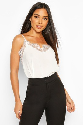 boohoo Lace Trim Side Split Cami