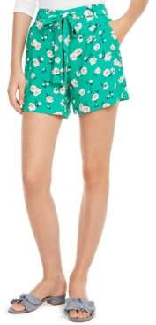 Maison Jules Printed Tie-Belt Shorts, Created for Macy's