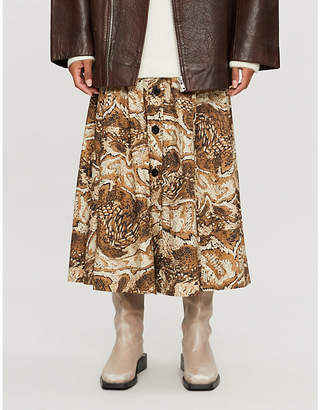 Ganni Tiger's Eye cotton skirt