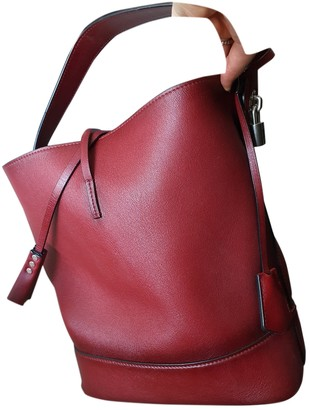 Louis Vuitton NN14 Burgundy Leather Handbags