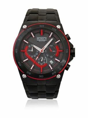Munich Unisex Adult Analogue Quartz Watch with Stainless Steel Strap MU+141.1A