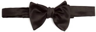 Brunello Cucinelli Silk And Cotton-blend Bow Tie - Black