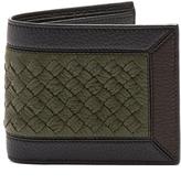 Bottega Veneta Intrecciato-panel bi-fold leather wallet