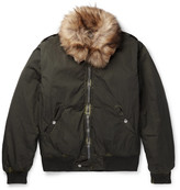 Our Legacy - Tanker Faux Shearling-trimmed Shell Bomber Jacket