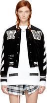 Off-White Black Corduroy Diagonal Varsity Jacket