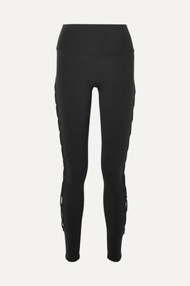 Alo Yoga Interlace Stretch Leggings - Black