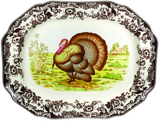Spode Woodland 19In Octagonal Turkey Platter