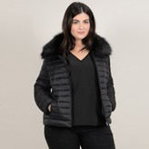Gabrielle Short Padded Jacket with Removable Faux Fur Collar