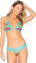 Anna Kosturova Rainbow Bella Bikini Top Light Turquoise