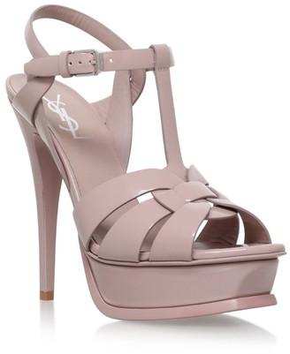 Saint Laurent Patent Tribute Sandals 105