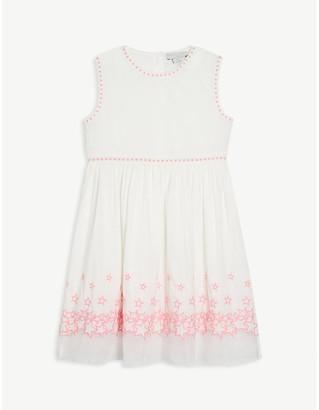 Stella McCartney Star-embroidered sleeveless cotton dress 4-16 years