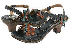 Spring Step Tarragon (Black Multi) - Footwear