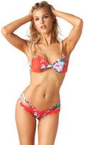 Montce Swim - Red Floral Bellini Top X Euro Bottom Bikini Set