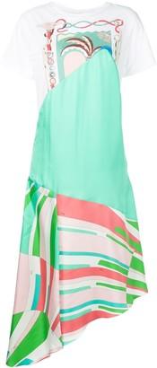 Emilio Pucci Shell Print Asymmetric Dress