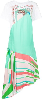 Emilio Pucci Shell-Print asymmetric dress