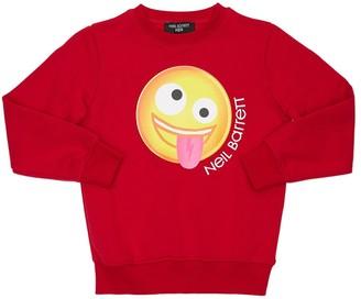 Neil Barrett Emoji Print Cotton Sweatshirt