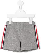 Moncler side stripe shorts - kids - Cotton/Spandex/Elastane - 3-6 mth