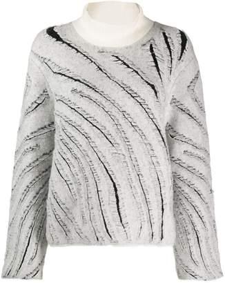 3.1 Phillip Lim diagonal knitted stripes jumper